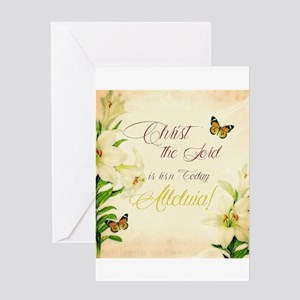 Christ the Lord is ris'n today Greeting Cards