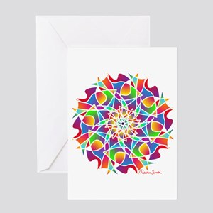 Stained Glass Mandala Greeting Cards