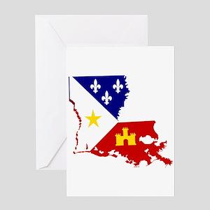 Acadiana State of Louisiana Greeting Cards