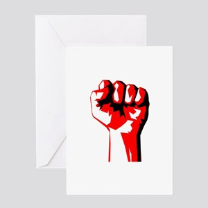 Power Fist Greeting Cards