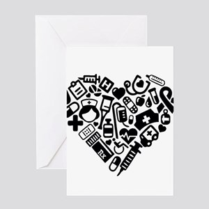 Nurse Heart Greeting Cards