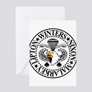 Band of Brothers Crest Greeting Cards