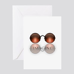 round glasses blk Greeting Cards