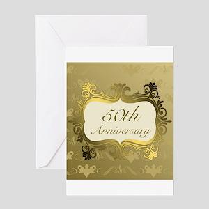 Fancy 50th Wedding Anniversary Greeting Cards