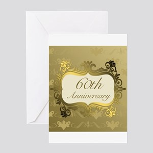 Fancy 60th Wedding Anniversary Greeting Cards