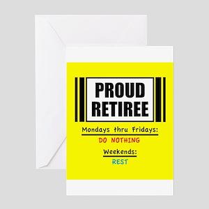 Proud Retiree Greeting Cards