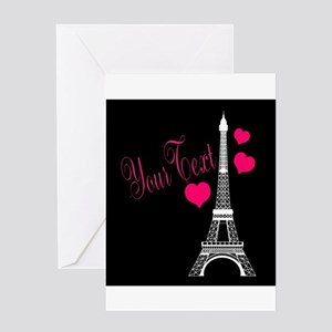 Paris France Eiffel Tower Greeting Cards