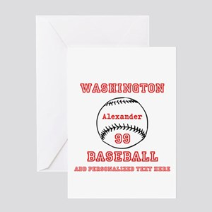 Baseball Personalized Greeting Cards