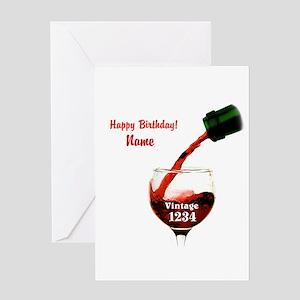 Custom Vintage Wine Greeting Cards