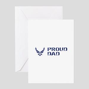 Usaf: Proud Dad Greeting Cards