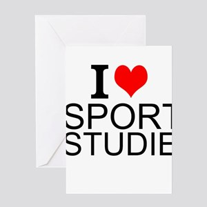 I Love Sports Studies Greeting Cards