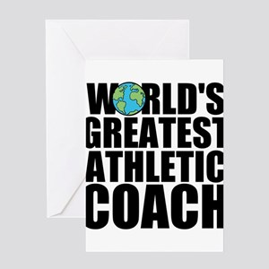 World's Greatest Athletic Coach Greeting Cards