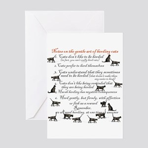 Herding cats Greeting Cards