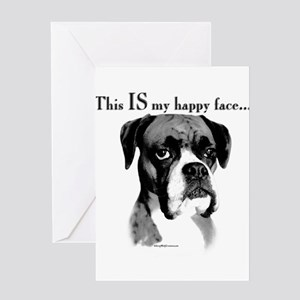 Boxer Happy Face Greeting Cards