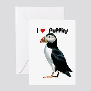 I Luv Puffins Greeting Cards