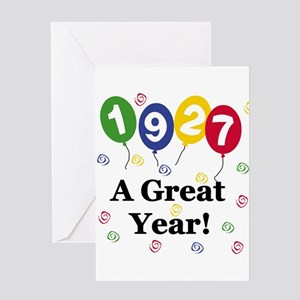 1927 A Great Year Greeting Card