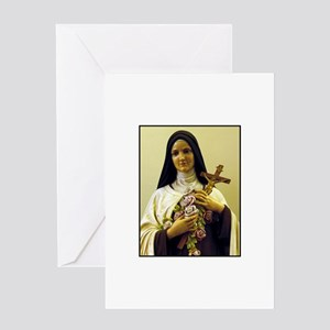 Saint Therese de Lisieux Greeting Card