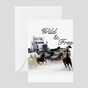 Wild & Free Greeting Card