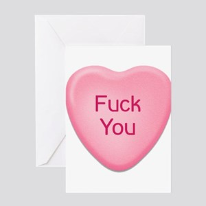 Candy Heart - Fuck You Greeting Cards