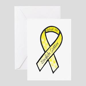 English Setter RibbonC Greeting Card