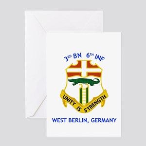 3rd BN 6th INF Greeting Card