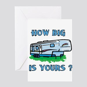 How big is yours? Greeting Card