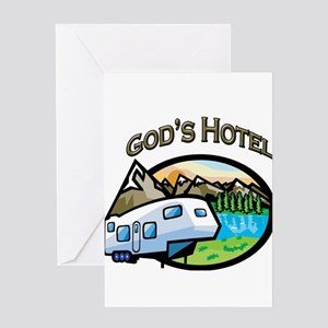 God's Hotel Greeting Card
