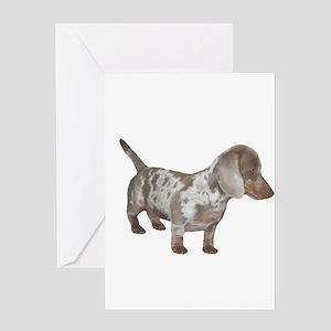 Speckled Dachshund Dog Greeting Card