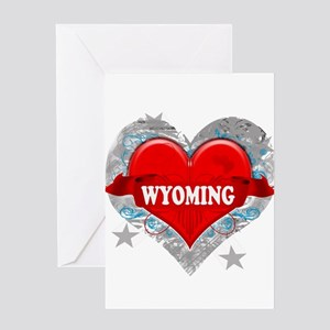 My Heart Wyoming Vector Style Greeting Card