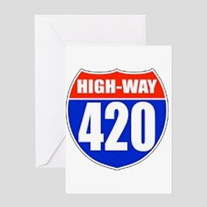 highway Greeting Card