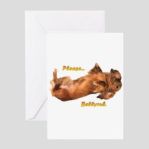 Bellyrub Doxie Greeting Card