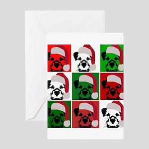 New Warhol Santa hat Greeting Card