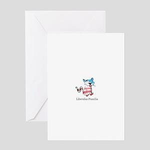 Liberalus Pussilia Greeting Card