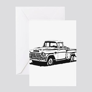 Old GMC pick up Greeting Card