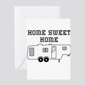 Home Sweet Home Fifth Wheel Greeting Card