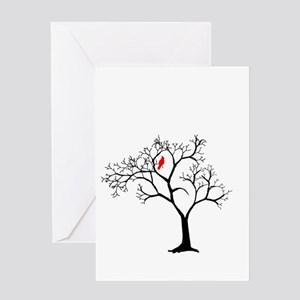Cardinal in Snowy Tree Greeting Card