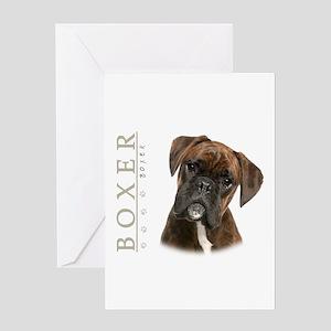 Brindle Boxer Greeting Card