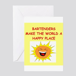 bartenders Greeting Card