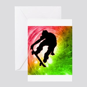 Skateboarder in a Psychedelic Greeting Card