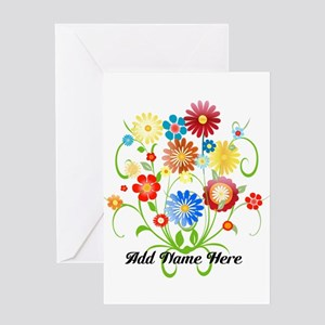 Personalized floral light Greeting Card