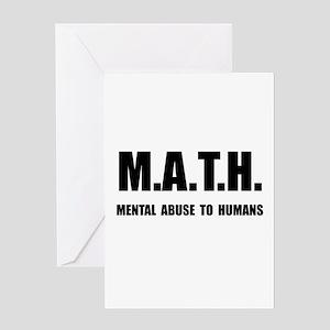 Math Abuse Greeting Card