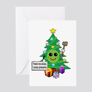 Feed Me Elves Greeting Card