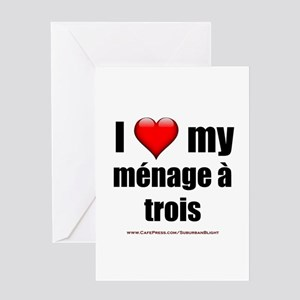 """Love Menage a Trois"" Greeting Card"
