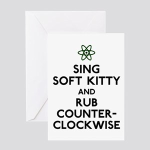 Soft Kitty Rub Counter-Clockwise Greeting Card