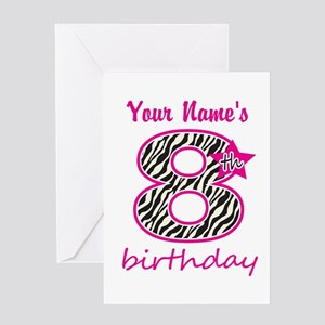 8th Birthday - Personalized Greeting Cards