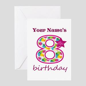 8th Birthday Splat - Personalized Greeting Card