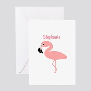 Personalized Flamingo Greeting Card