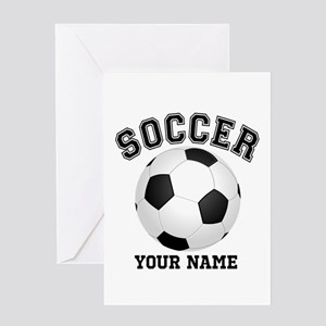Personalized Name Soccer Greeting Card