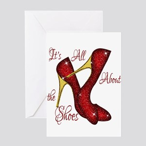 Red Ruby Slippers Greeting Card