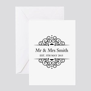 Custom Couples Name and wedding date Greeting Card